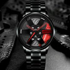 Sports Car Wheel Watch Quartz Wheel Rim Auto Wrist Watch Waterproof