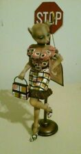 """Margaret Le Van Alley Cats Naughty Nat """"Masseuse"""" Stop Sign 9"""" Figurine (Retired"""