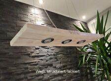 Hängelampe Pendelleuchte aus Holz mit LEDs inkl. GU10 Haengeleuchte Shabby Weiß