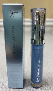 It Cosmetics Vitality Flush Butter Lip Gloss NEWS ANCHOR BLUE, Full Size NIB