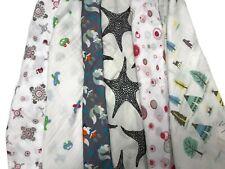 2pcs Extra Large 120cmx120cm Muslin Squares Cloths Bibs 100% Cotton BOY Designs
