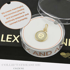 Authentic Alex and Ani Initial E 14kt Gold Plated Etching Charm