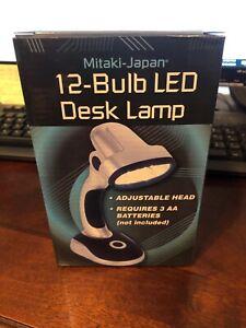 LED 12 Bulb Portable Desk Light Lamp Work Home Or Office