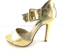 Michael Antonio Metallic Gold High Heel Platform Peep Toes pumps Size 7 M