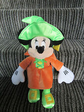 BNWT Disney Store Minnie Mouse Witch Halloween Teddy Plush Autumn Cute Soft 17""