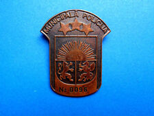 LATVIA LOCAL MUNICIPALITY POLICEMAN METAL BADGE, PERSONAL NUMBER. 1990s