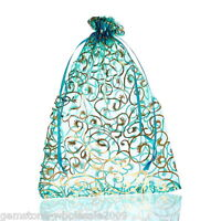 W09 25PCs 10cmx12cm Organza Gift Bags Pouches Wedding//Christmas Gift Favor M3358