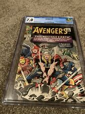 AVENGERS #12 CGC 7.0 WHITE PAGES -CLASSIC THOR COVER -MOLE MAN & RED GHOST APP.