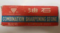 Vintage Diamond Brand Combination Sharpening Stone 6x2x1 Aluminum Oxide