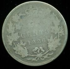 1886 Canada 25 Cent Piece, Queen Victoria, Original Sterling