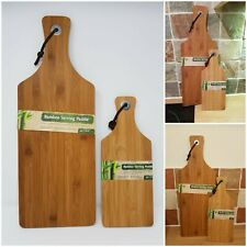 Bamboo Wooden Serving Tray Cheese Paddle Chopping Board Kitchen Dish Cutting Up