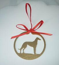 Metal Cutout Standing Greyhound Dog Ornament Whippet Galgo Ig