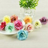 50x Artificial Rose Heads Flower Silk Bulk Party Wedding Hot Fake Bouquet N1U7