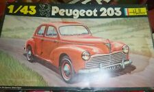 HELLER 160 PEUGEOT 203 1/43 MODEL CAR MOUNTAIN KIT NIB