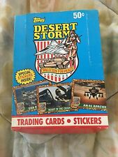 1991 TOPPS DESERT STORM TRADING CARDS SERIES ~box full of cards