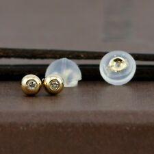 Genuine 18CT YG Diamond Ball Studs Earrings 3mm - 1 Pair