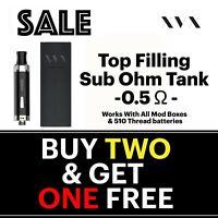 APEX E Cigarette Cig Starter Kit Replacement Tank clearomiser 0.5 Sub Ohm Vaping