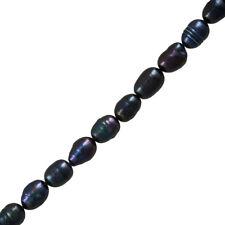 "Freshwater Pearls Genuine Peacock Potato Beads 9-11mm 14"" Strand (H29/7)"