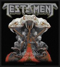 OFFICIAL LICENSED - TESTAMENT - BROTHERHOOD OF THE SNAKE SEW-ON PATCH METAL