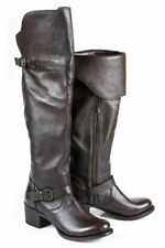 """Stetson Western Boots Women 20"""" Harness Size 7 B Brown 12-021-9107-1120 BR $319."""