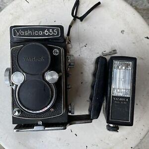 Yashica 635 TLR Medium Format Film Camera Vintage Made In Japan