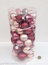 Box 48 palline vetro viola, rosa, argento 5/6/7cm ★ Inge-Glas Albero Natale