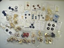 LARGE LOT OF ASSORTED BUTTONS, SEWING CRAFTS, SOME STILL ON CARD
