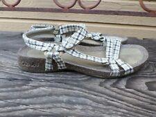 Teva Black Gray White Adjustable Strap Cork Sandals Women's 7