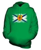 NOVA SCOTIA DISTRESSED FLAG UNISEX HOODIE TOP NOVA SCOTIAN  JERSEY GIFT