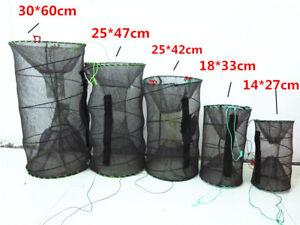 New Crab Fish Crayfish Lobster Shrimp Prawn Eel Live Trap Net Bait Fish Pot Cage