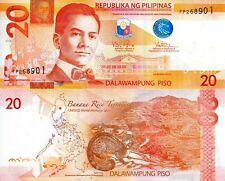 PHILIPPINES 20 Piso Banknote World Paper Money UNC Currency Pick p206 2013 Bill