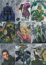 BATMAN FOREVER METAL 1995 FLEER LOT OF 9 SILVER FLASHER INSERT CARDS