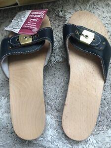 Dr. Scholl's Original Austria Vintage Sandals Size 8 Blue New With Box