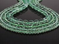Grade A Natural Green Fluorite Gemstone Round Beads 15.5'' 4mm 6mm 8mm 10mm 12mm