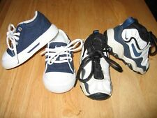 2 Pairs NIKE Toddler Boy Sneaker Sport Shoes Navy Black Sz 4 5