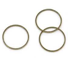 100 Bronze Tone Closed Jump Rings Findings 20mm Dia.