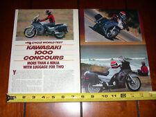 1986 KAWASAKI 1000 CONCOURS - ORIGINAL ARTICLE