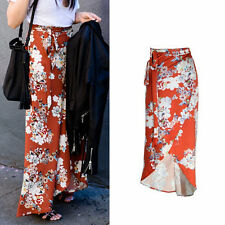 BOHO Women Chiffon Elegant Split Skirt Summer Beach Long Floral High Waist Dress