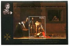 Malta 2010 Caravaggio Painting Art Gold Overprint Souvenir Sheet MNH
