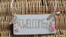 Vintage/Retro Floral Welcome Decorative Plaques & Signs