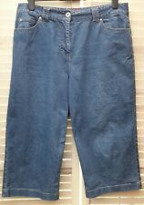 Dash Ladies Cropped Blue Jeans Size 16