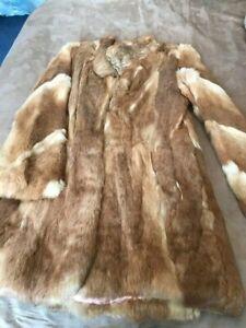 Ladies Real Coney Fur Coat - Size 10