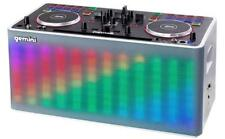Gemini MIX2GO tragbar DJ System Player Speaker Akku LED Licht Bluetooth AUX Pad