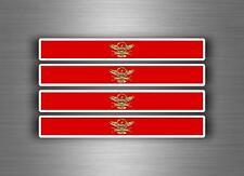 4x sticker adesivi adesivo auto tuning bandiera bomb spqr impero romano roma