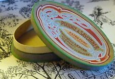 French Antique Perfume Powder Box: Vintage Art Nouveau Paris 1900 Mint Cond.