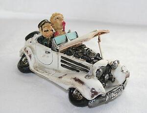 16.5cm CLASSIC OPEN TOP CAR MODEL - FUN CLASSIC CAR - VINTAGE CAR - RETRO