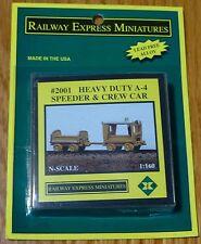 Railway Exp.Miniatures N #2001 Heavy Duty A-4 Speeder & Crew Car (Light Cast