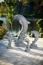 "65"" STANDING DOLPHIN cement outdoor garden statue"