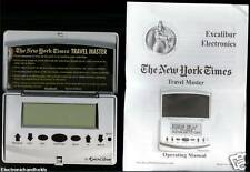 EXCALIBUR NEW YORK TIMES TRAVEL MASTER ELECTRONIC HANDHELD TRIP GUIDE ORGANIZER