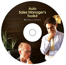 Auto Sales Training - Automotive Sales Manager's Toolkit